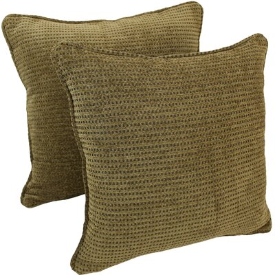 Corded Gingham Throw Pillow