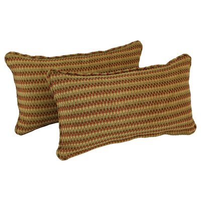 Corded Autumn Gingham Lumbar Pillow