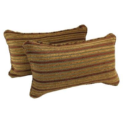 Corded Autumn Stripes Lumbar Pillow