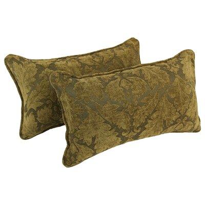 Floral Damask Jacquard Chenille Lumbar Pillow