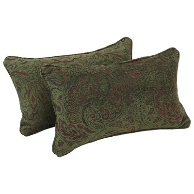 Corded Floral Lumbar Pillow