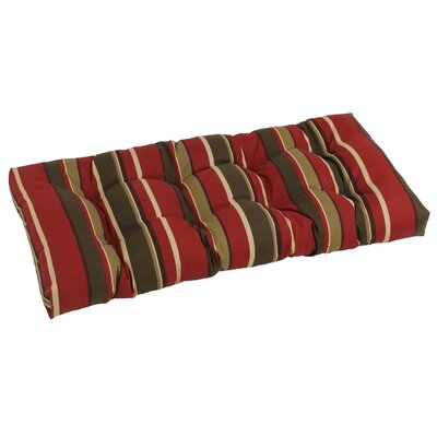 Outdoor Loveseat Bench Cushion Fabric: Montserrat Sangria