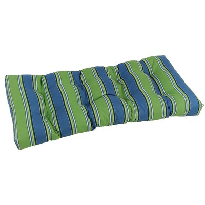 Outdoor Loveseat Bench Cushion Fabric: Haliwell Carribean