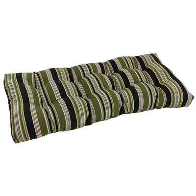 Outdoor Loveseat Bench Cushion Fabric: Luxury Azure