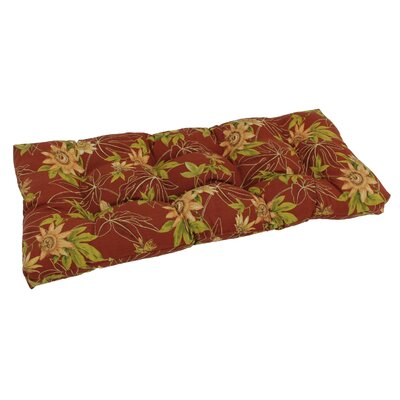 Outdoor Loveseat Bench Cushion Fabric: Passion Ruby