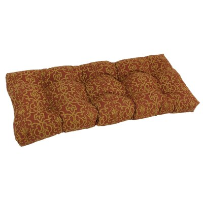 Outdoor Loveseat Bench Cushion Fabric: Vanya Paprika