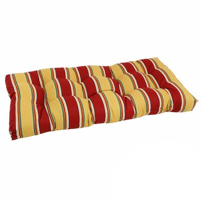 Outdoor Loveseat Bench Cushion Fabric: Haliwell Multi