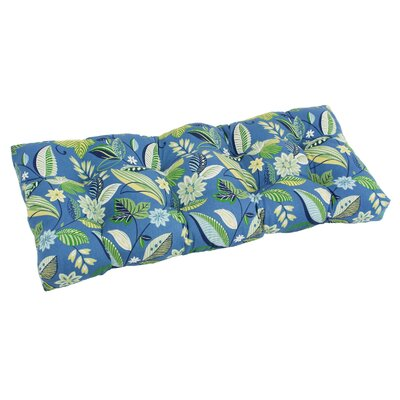 Outdoor Loveseat Bench Cushion Fabric: Skyworks Carribean