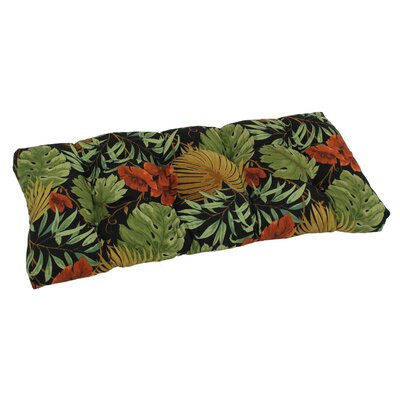 Outdoor Loveseat Bench Cushion Fabric: Tropique Raven