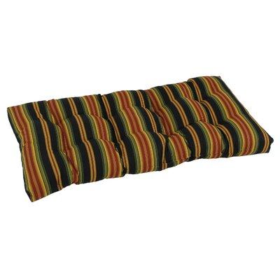 Outdoor Loveseat Bench Cushion Fabric: Lyndhurst Raven