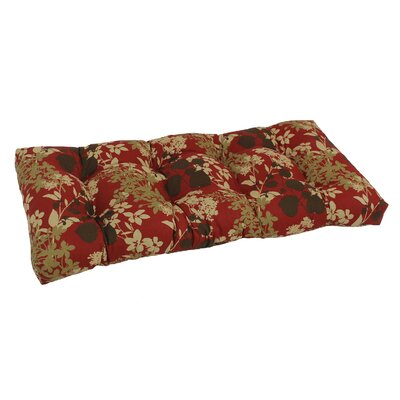 Outdoor Loveseat Bench Cushion Fabric: Montfleuri Sangria