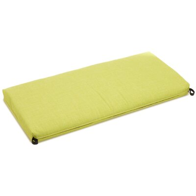 Outdoor Bench Cushion Size: 3.5 H x 51 W x 19 D, Fabric: Lime