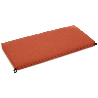 "Indoor/outdoor Bench Cushion Size: 3.5"" H X 51"" W X 19"" D, Fabric: Cinnamon"