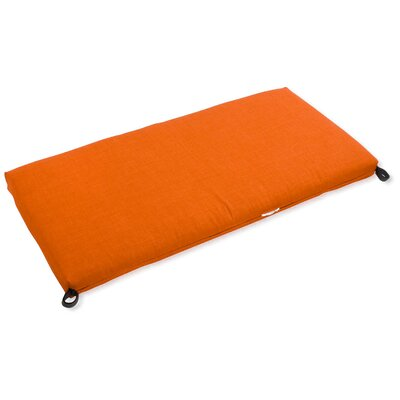 Blazing Needles Outdoor Bench Cushion Fabric: Tangerine Dream, Size: 3.5