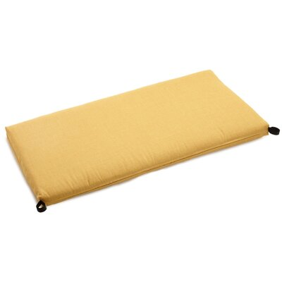 "Indoor/outdoor Bench Cushion Size: 3.5"" H X 51"" W X 19"" D, Fabric: Lemon"