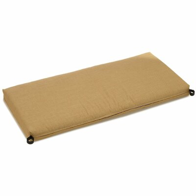 Outdoor Bench Cushion Size: 3.5 H x 51 W x 19 D, Fabric: Wheat