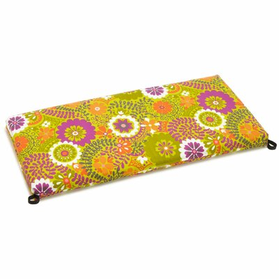 Luxury Outdoor Bench Cushion Size: 3.5 H x 54 W x 19 D, Fabric: Luxury Citron