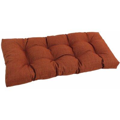 Outdoor Loveseat Cushion Fabric: Cinnamon
