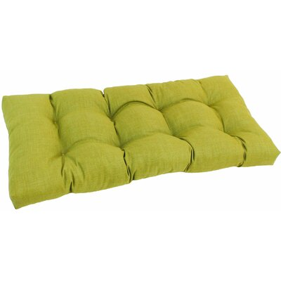Outdoor Loveseat Cushion Fabric: Lime