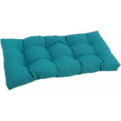 Outdoor Loveseat Cushion Fabric: Aqua Blue
