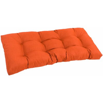 Outdoor Loveseat Cushion Fabric: Tangerine Dream