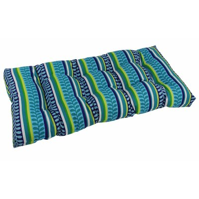 Outdoor Loveseat Bench Cushion Fabric: Pike Azure