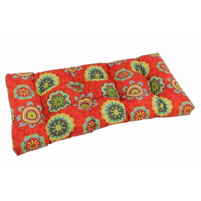 Outdoor Loveseat Bench Cushion Fabric: Farrington Terrace Grenadine