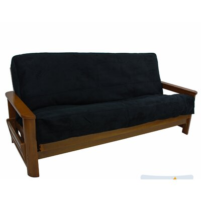 Box Cushion Futon Slipcover Upholstery: Azul