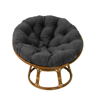 Papasan Cushion Upholstery: Red Wine