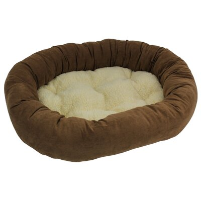 Montoya Microsuede Medium Dog Bed Color: Saddle Brown