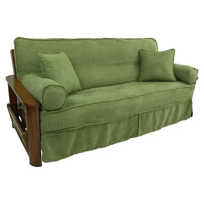 5 Piece Futon Skirted Slipcover Set Upholstery: Sage