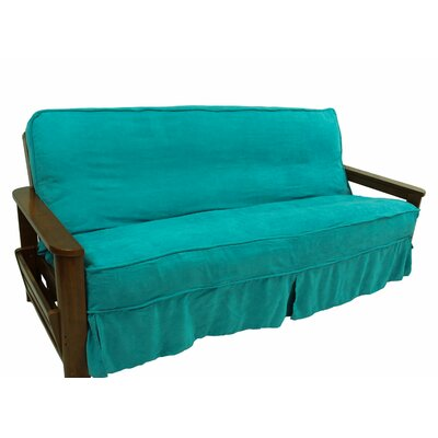 Box Cushion Futon Slipcover Upholstery: Red Wine