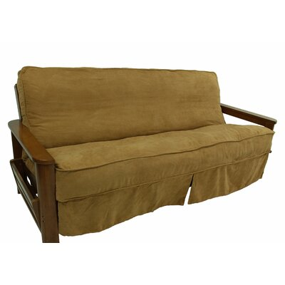 Box Cushion Futon Slipcover Upholstery: Java