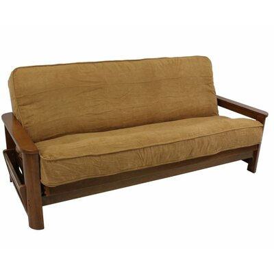 Box Cushion Futon Slipcover Size: 9 and 10, Upholstery: Red Wine