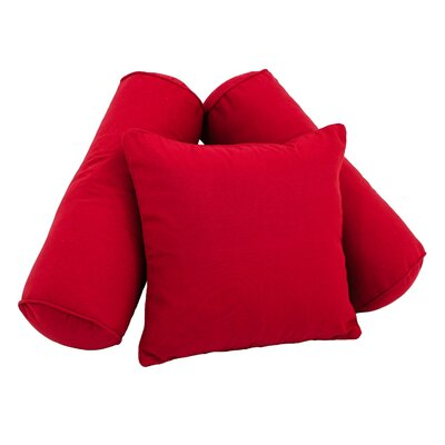 Soft Home Furnishings Solid Twill 3 Piece Pillow Set Color: Ruby Red