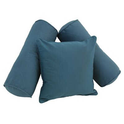 Soft Home Furnishings Solid Twill 3 Piece Pillow Set Color: Navy