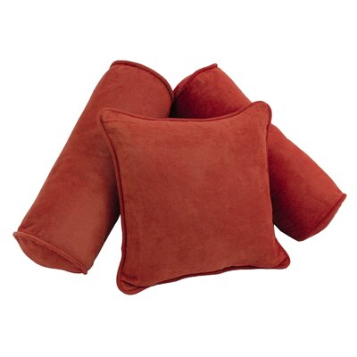 Karl 3 Piece Microsuede Pillow Set Color: Cardinal Red