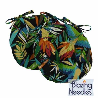 Outdoor Patio Chair Cushion Color: Tropique Raven