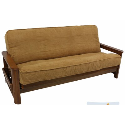 Box Cushion Futon Slipcover Upholstery: Saddle Brown