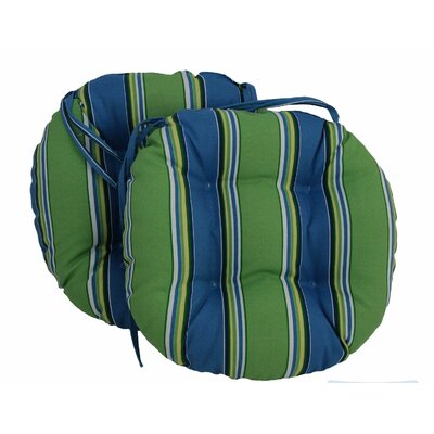 Outdoor Patio Chair Cushion Color: Luxury Azure