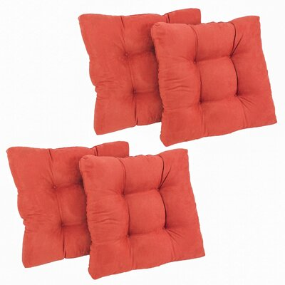 Microsuede Tufted Chair/Rocker Cushion Fabric: Tangerine Dream