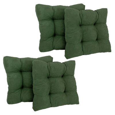 Microsuede Tufted Chair/Rocker Cushion Fabric: Emerald
