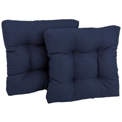 Patio Outdoor Chair/Rocker Cushion Fabric: Azul