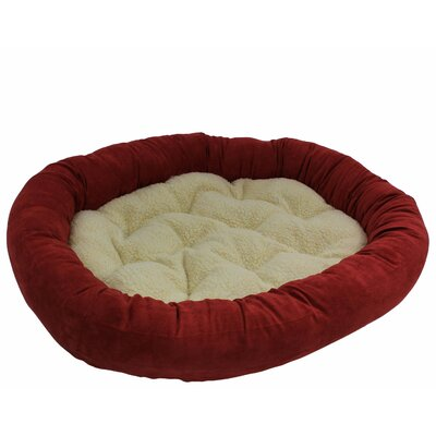 Microsuede Medium Dog Bed Color: Cardinal Red