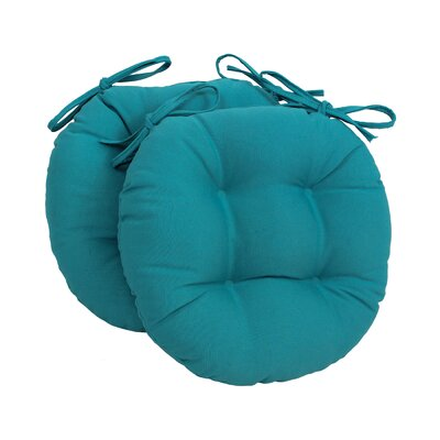 Dining Chair Cushion Fabric: Aqua Blue