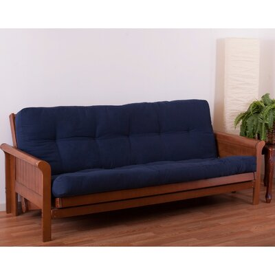 Vitality 6 Foam Full Futon Mattress Color: Navy