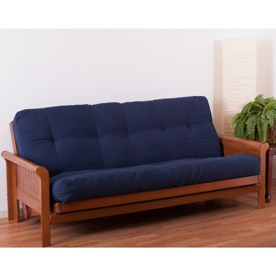 Vitality 8 Coil Futon Mattress Color: Navy