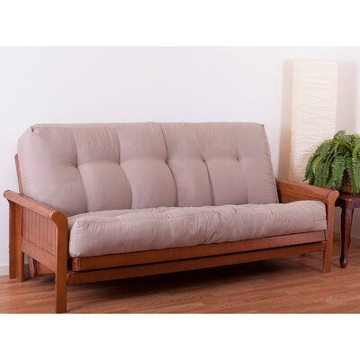8 Pocket Coil Queen Futon Mattress Color: Spice