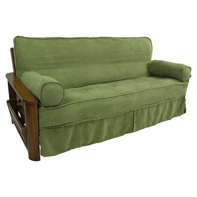 Box Cushion Futon Slipcover Fabric: Sage