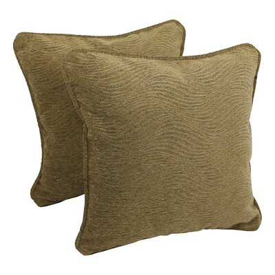 Jaquard Chenille Throw Pillow Fabric: Champagne